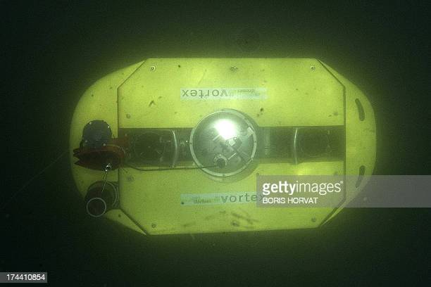 The new submarine robot 'Vortex' is submerged on July 25 2013 in La SeynesurMer southern France The French designed robot is part of the European...