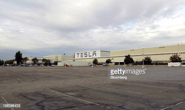The new Tesla Motors Inc auto plant formerly operated by New United Motor Manufacturing Inc stands in Fremont California US on Wednesday Oct 27 2010...