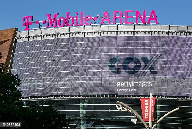 The new TMobile Arena at Toshiba Plaza expected to be the home of an NHL team is viewed on June 7 2016 in Las Vegas Nevada Tourism in America's 'Sin...