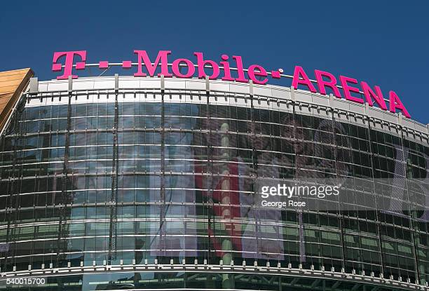 The new TMobile Arena at Toshiba Plaza is viewed on June 7 2016 in Las Vegas Nevada Tourism in America's 'Sin City' has over the last several years...