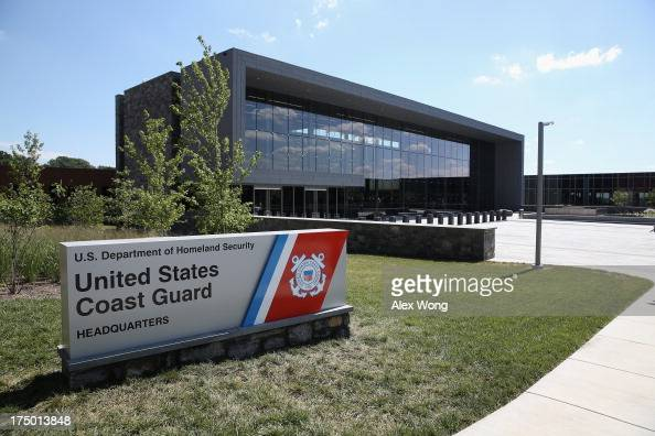 The new US Coast Guard Headquarters is seen July 29 2013 in Washington DC The USCG will begin their move to the new headquarters on August 1 bringing...