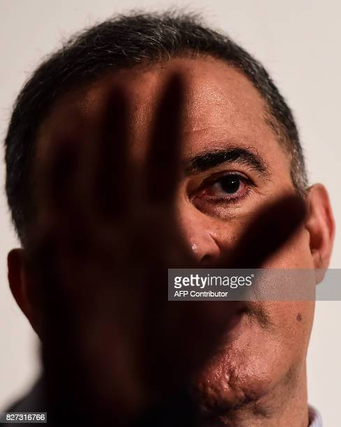 The new Venezuelan attorney general Tarek William Saab speaks during a press conference in Caracas on August 7 2017 A new assembly loyal to President...