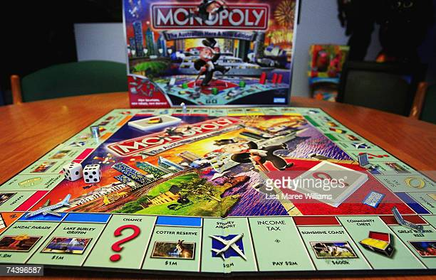 The new version of the new look Australian Here and Now Monopoly board is launched at Hasbro's Head Office on June 5 2007 in Sydney Australia 168...