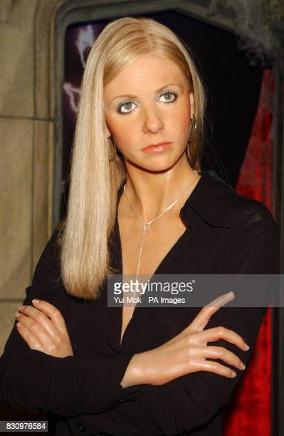 The new waxwork model of Buffy The Vampire Slayer on display at Madame Tussaud's in central London Played on television by Sarah Michelle Gellar...