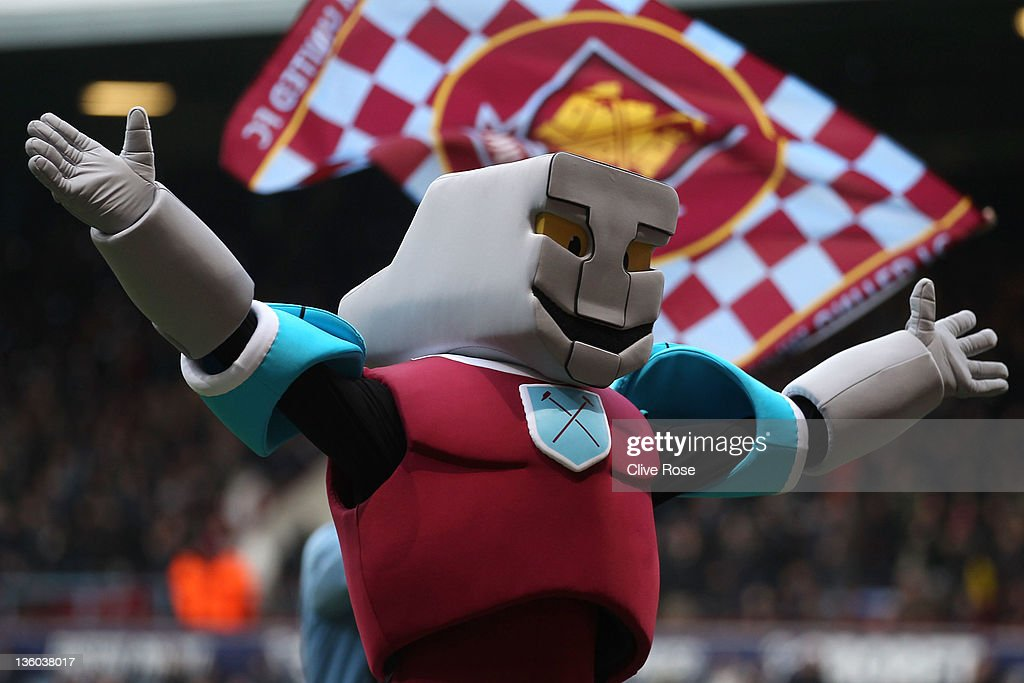 The new West Ham United mascot 'Hammerhead' prior to the npower Championship match between West Ham United and Barnsley at the Boleyn Ground on December 17, 2011 in London, England.