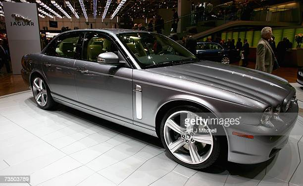 The new XJ from Jaguar is displayed at the 77th International Motor Show February 62007 in Geneva Switzerland The first major car show in Europe this...