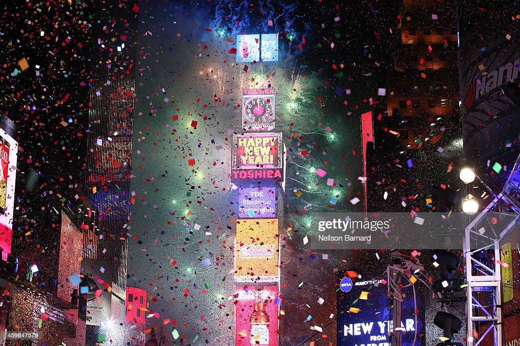 The New Year's Eve 2014 Celebration in Times Square on December 31, 2013 in New York City.