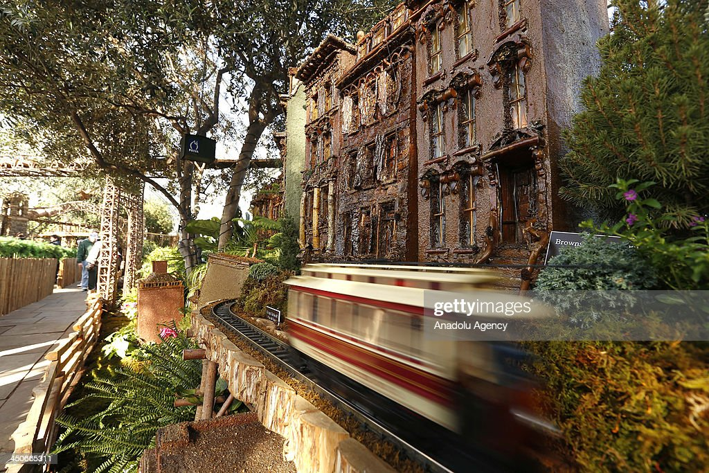 The New York Botanical Garden hosts the 22th Holiday Train Show in between November 16 January 12 in New York USA 21 different styles of operating...