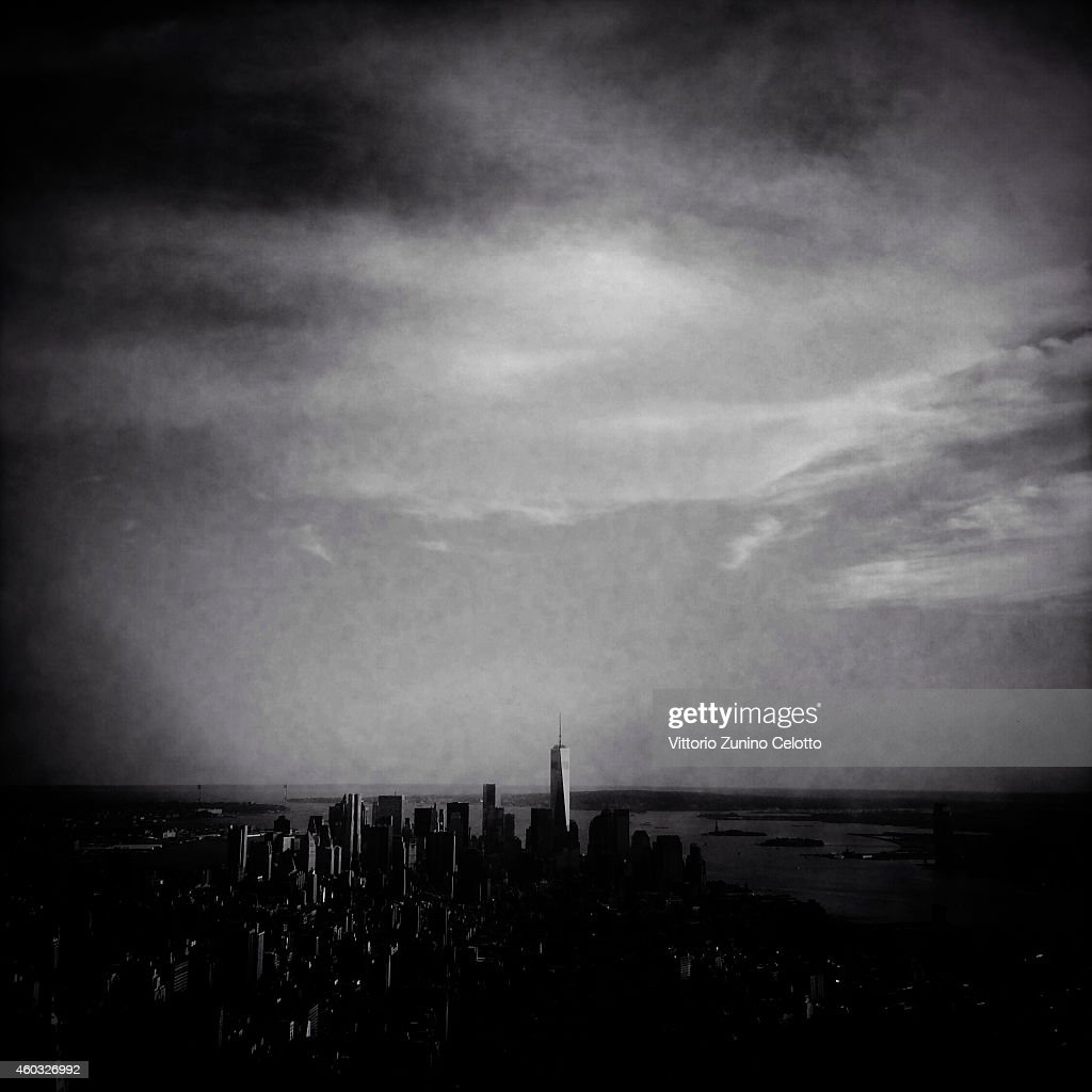 The New York City skyline is seen on June 15, 2014 in New York, United States.