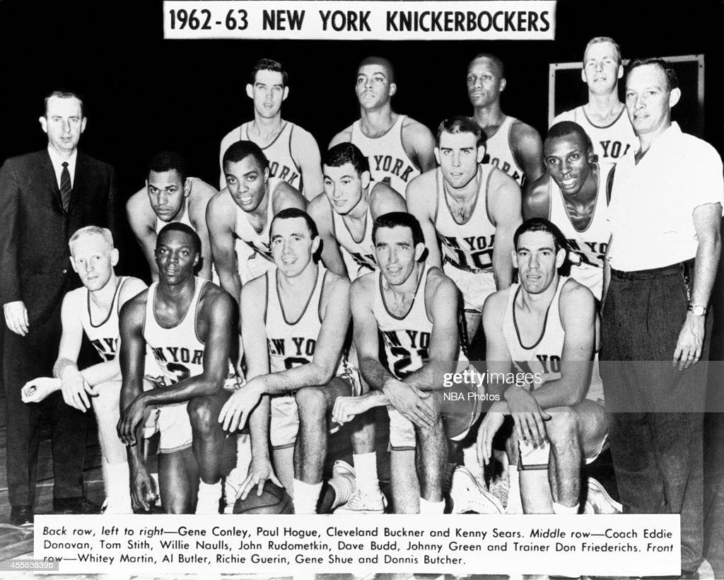 1962 63 New York Knickerbockers Team Portrait