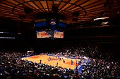 The New York Knicks during open practice at Madison Square Garden on October 26 2014 in New York City New York NOTE TO USER User expressly...