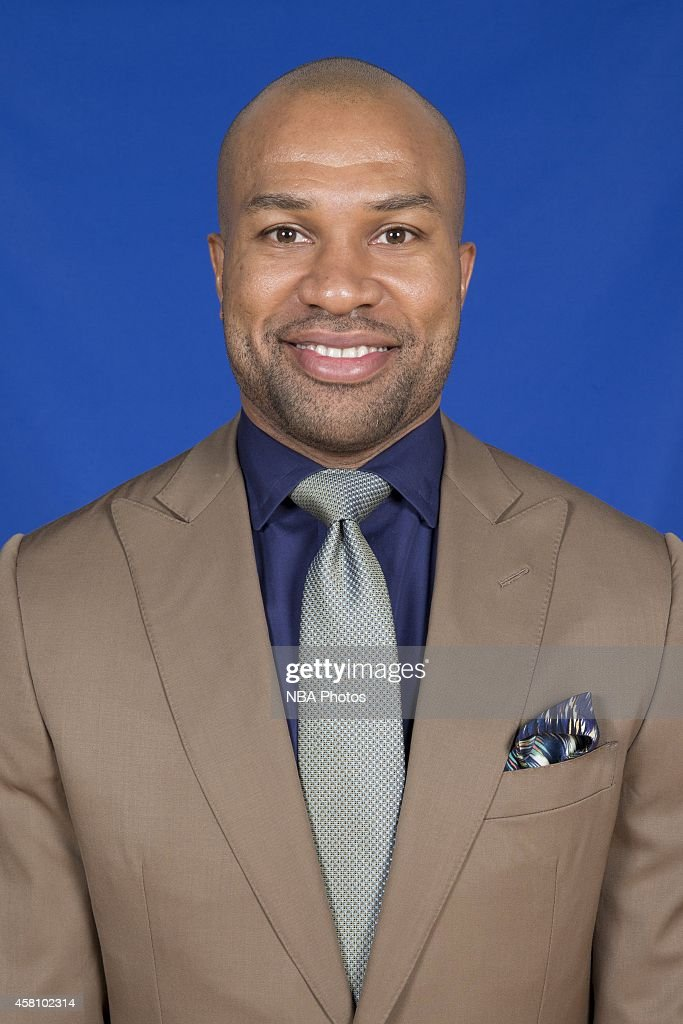 The New York Knicks introduce <a gi-track='captionPersonalityLinkClicked' href=/galleries/search?phrase=Derek+Fisher&family=editorial&specificpeople=201724 ng-click='$event.stopPropagation()'>Derek Fisher</a> as the franchise's head coach at a press conference on June 10, 2014 at the MSG Training Center in Tarrytown, New York.