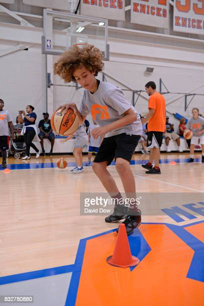 The New York Liberty host a WNBA FIT Clinic on August 15 2017 at the Madison Square Garden Training Facility in Tarrytown New York NOTE TO USER User...