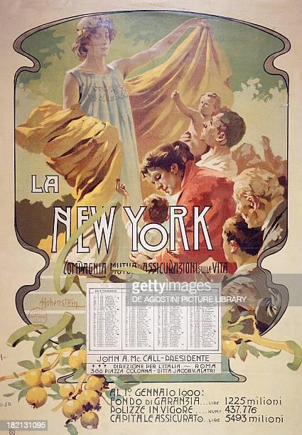 The New York life insurance mutual company 1900's calendar Italy 19th century