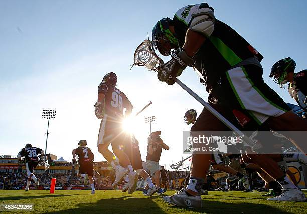 The New York Lizards enter the field to face the Rochester Rattlers during the 2015 Major League Lacrosse Championship Game at Fifth Third Bank...