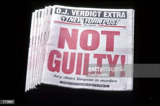 In Focus: The OJ Simpson Story To Get TV Treatment Photos ... Oj Simpson Not Guilty 1995