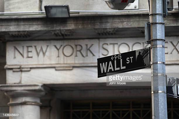 The New York Stock Exchange is seen on Wall Street on May 1 2012 in New York City Following positive news of a rise in US manufacturing activity The...