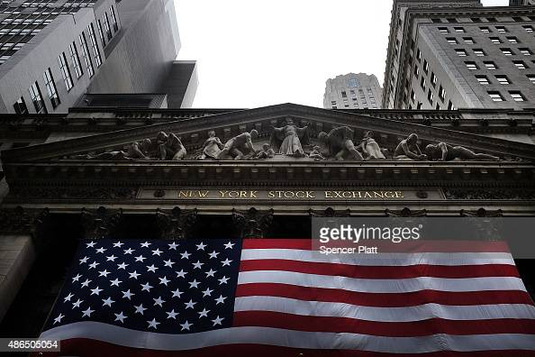 The New York Stock Exchange is viewed on September 4 2015 in New York City The Dow Jones industrial average finished the day down over 250 points...