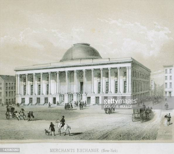 The New York Stock Exchange United States Of America 19th century Engraving