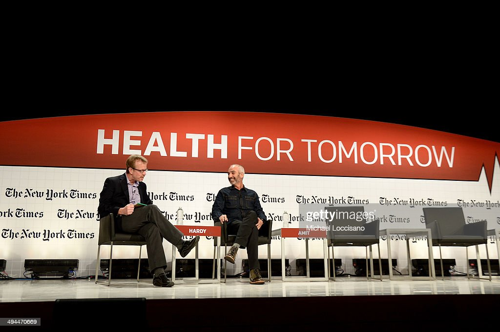 The New York Times Deputy Technology Editor Quentin Hardy and New Deal Design President Gadi Amit speak onstage during The New York Times Health For Tomorrow Conference at Mission Bay Conference Center at UCSF on May 29, 2014 in San Francisco, California.