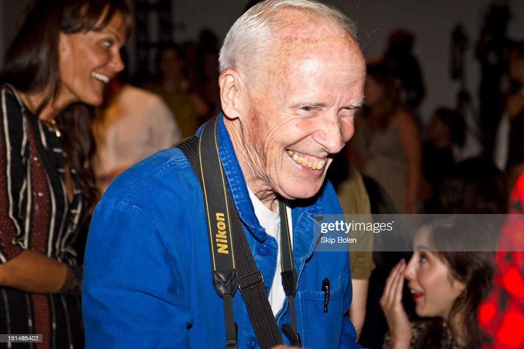 The New York Times fashion photographer Bill Cunningham attends the Suno spring 2013 fashion show during Mercedes-Benz Fashion Week at Milk Studios on September 7, 2012 in New York City.