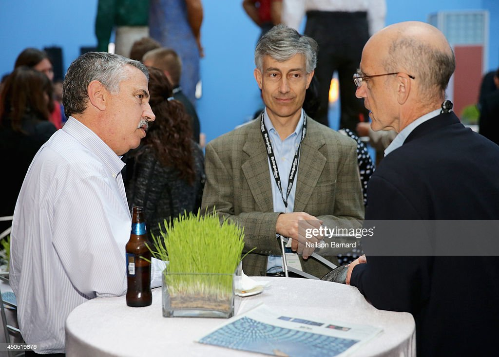 The New York Times Foreign Affairs Columnist Thomas L Friedman (L) and guests attend The New York Times Next New World Conference on June 12, 2014 in San Francisco, California.