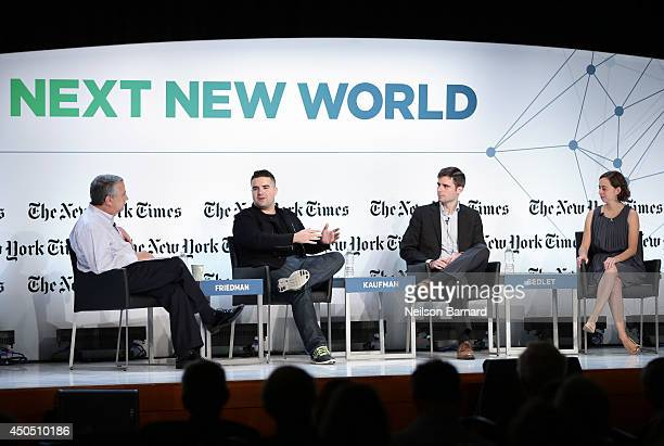 The New York Times Foreign Affairs Columnist Thomas L Friedman Quirky Founder and CEO Ben Kaufman HireArt CoFounder Nick Sedlet and HireArt CoFounder...