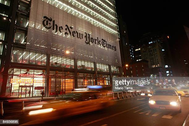 The New York Times headquarters is seen February 19 2009 in New York City The New York Times Co suspended quarterly dividend payments to shareholders...