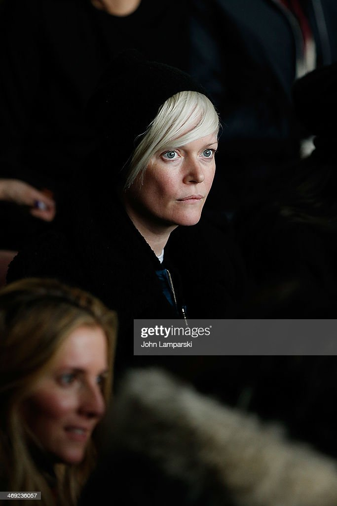 The New York Times Magazine Kate Lanphear attends the Calvin Klein Collection Show during MercedesBenz Fashion Week Fall 2014 at Spring Studios on...