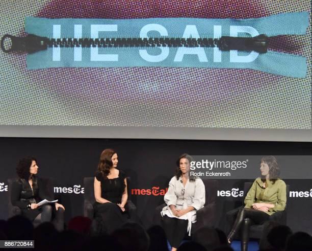 The New York Times Magazine staff writer Susan Dominus actor Ashley Judd New York Times journalist Jodi Kantor and New York Times journalist Megan...