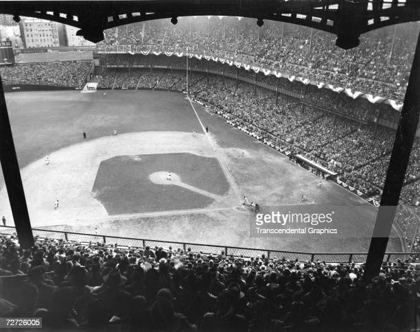 NEW YORK OCTOBER 7 1943 The New York Yankees are battling the St Louis Cardinals in the 1943 World Series in Yankee Stadium in game 3 on October 7th