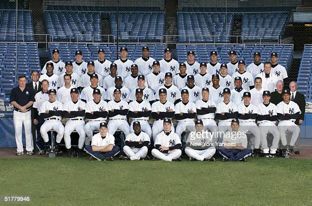 The New York Yankees pose for a team photo during the 2004 MLB season at Yankee Stadium in New York New York **Photo Illustration**