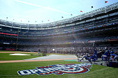 The New York Yankees take batting practice before the Opening Day game against the Toronto Blue Jays on April 6 2015 at Yankee Stadium in the Bronx...