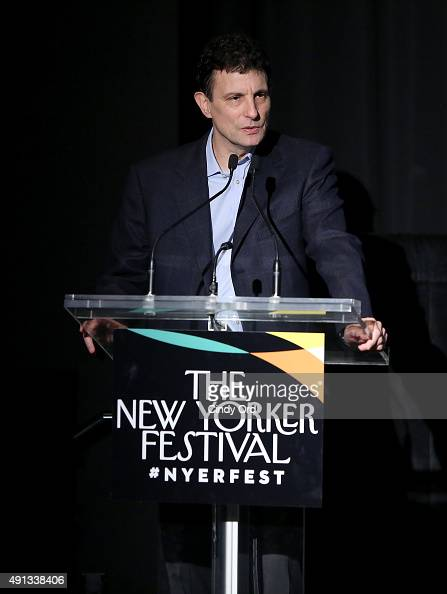The New Yorker editor David Remnick speaks onstage during The New Yorker Festival 2015 LinManuel Miranda Talks With Rebecca Mead at DGA Theater on...