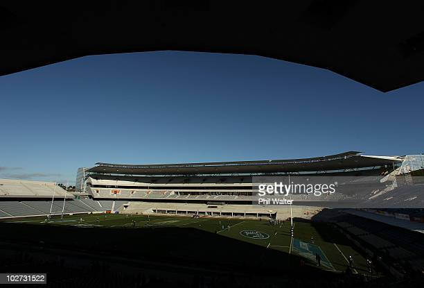 The New Zealand All Blacks have their Captain's Run at Eden Park on July 9 2010 in Auckland New Zealand