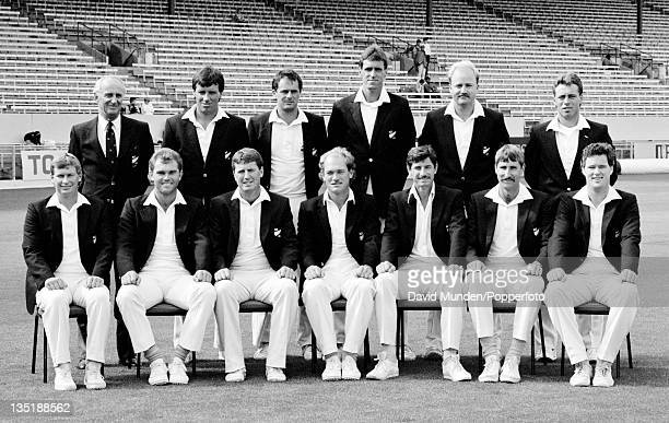 The New Zealand cricket team prior to the 1st Test match against England in Christchurch 12th February 1988 The match ended in a draw Back row Gren...