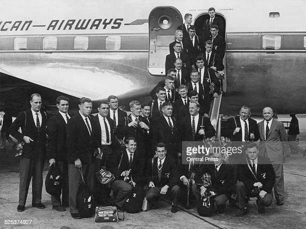The New Zealand national rugby union team the All Blacks on arrival at Jan Smuts International Airport in Kempton Park Gauteng near Johannesburg...