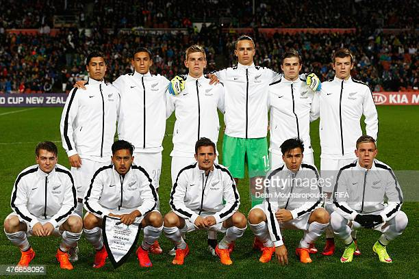 The New Zealand team line up prior to the FIFA U20 World Cup New Zealand 2015 Round of 16 match between Portugal and New Zealand at Waikato Stadium...