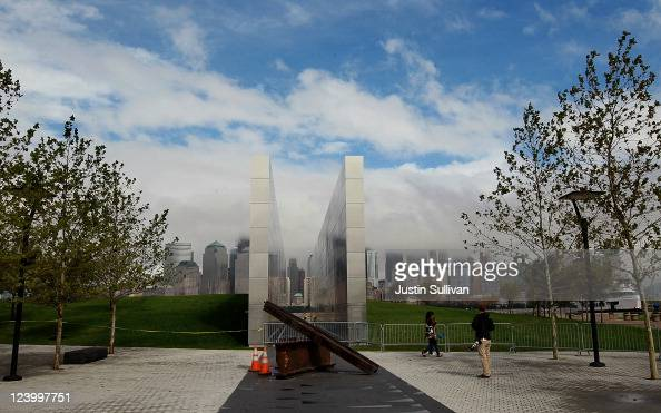 The newly constructed 'Empty Sky Memorial' sits at Liberty State Park on September 7 2011 in Jersey City New Jersey The concrete and steel 'Empty Sky...