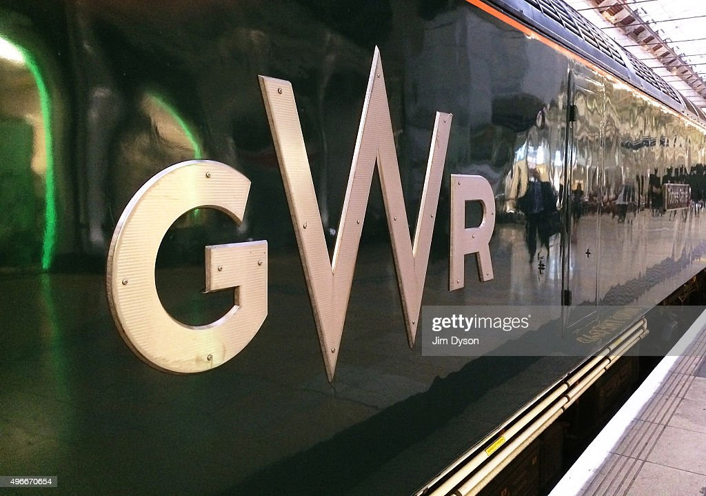 The newly designed GWR logo adorns a loco at Paddington station on November 11, 2015 in London, England. Refurbished Great Western Railway trains are being introduced following the company's rebranding exercise, formerly known as First Great Western.