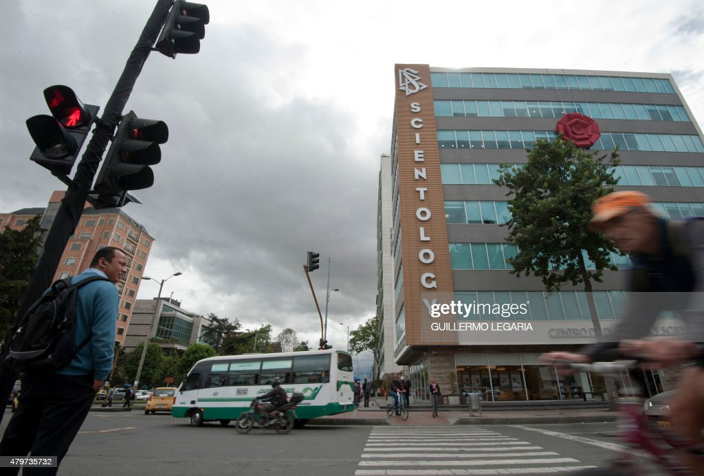 The newly inaugurated Scientology's headquarters in Bogota, on July 6, 2015. Scientology, a religion founded by US writer L. Ron Hubbard in the 50s, opens in the Colombian capital the first Scientology Ideal Organization church in South America.