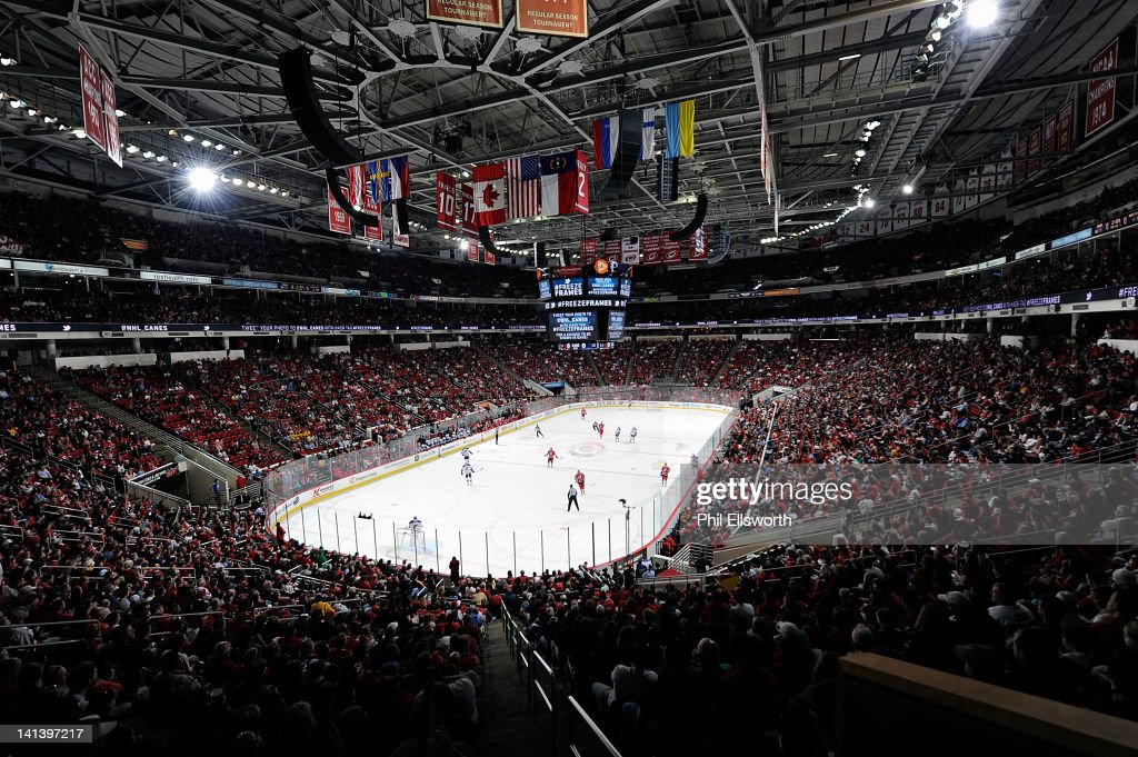 The newly named PNC Arena is pictured during an NHL game between the Carolina Hurricanes and St. Louis Blues on March 15, 2012 in Raleigh, North Carolina.