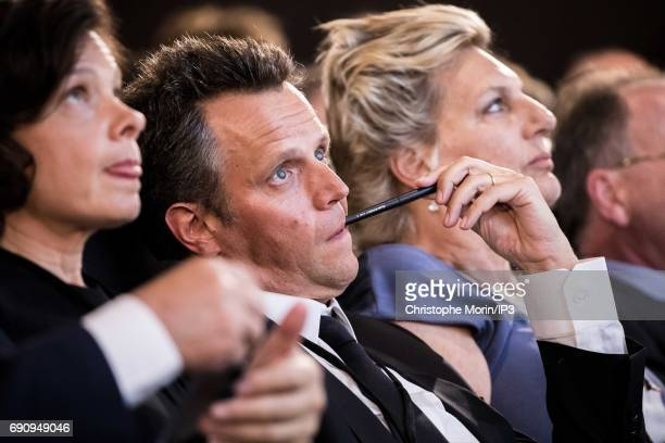 The newly Publicis Group Chairman and CEO Arthur Sadoun attends a Publicis general assembly as part of the transfer of power of his predecessor...