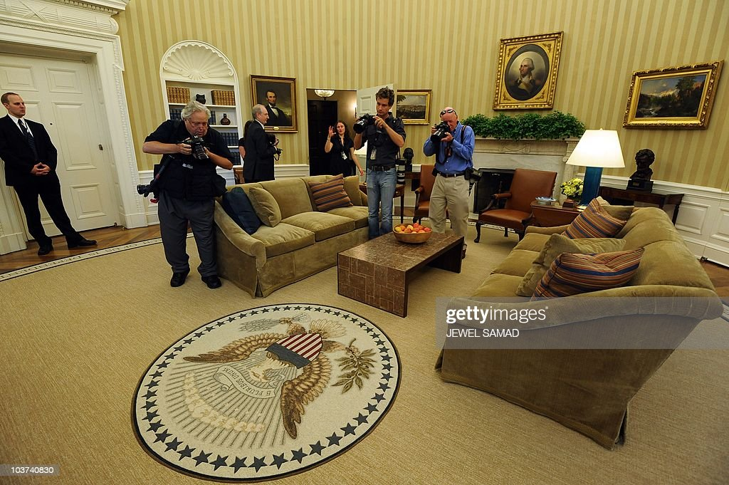 The newly redecorated Oval Office of the Pictures Getty Images
