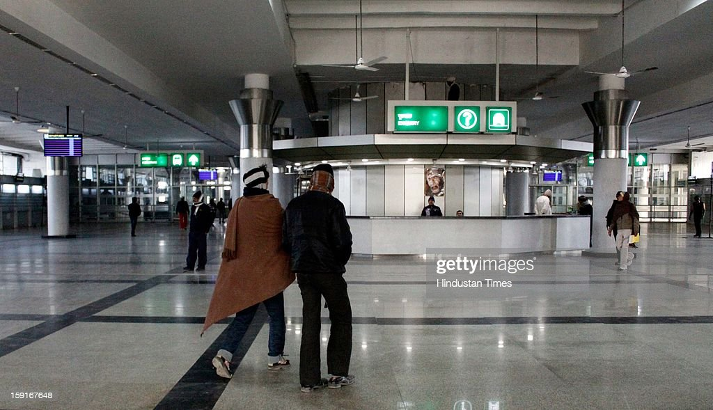 The Newly Renovated Inter State Bus Terminal was thrown open to the public at Kashmiri Gate on January 8, 2013 in New Delhi, India.