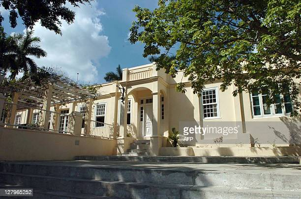 The newly restaured facade of the Finca Vigia colonial residence 21 km from Havana where US writer Ernest Hemingway lived for 21 years as seen 15...