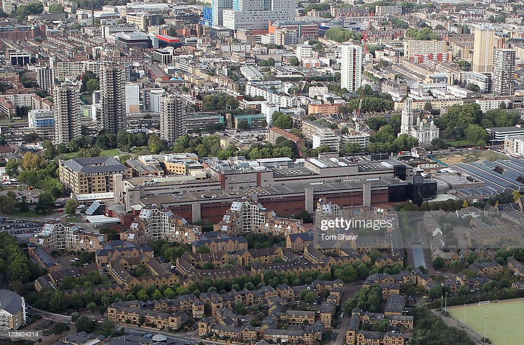 The News International building in Wapping from the air on September 5, 2011 in London, England.