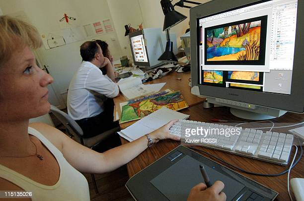 U the next French animation film in Angouleme France on August 19 2005 Last final improvement with the decorations using electronic paint system