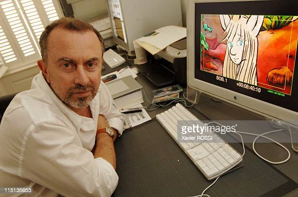 U the next French animation film in Angouleme France on August 19 2005 Gregoire Solotareff author of 'U' On the screen 'U' the unicorn principal...