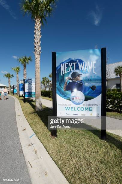 The Next Wave sign during the second round of the Webcom Tour Championship at Atlantic Beach Country Club on September 29 2017 in Atlantic Beach...